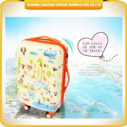 cute cartoon kids travel luggage / top quality luggage bag