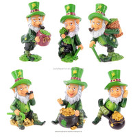 Polyresin Leprechaun Figures 6 Assorted Designs