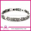 Energy bracelets silver stainless steel jewelry in stock