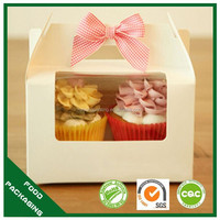manufacture logo custom cheap cupcake paper boxes cupcake packaging