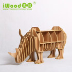 Modern designs modelo veados estante de madeira