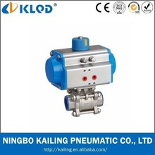 High quality Standard 3 pcs rotary pneumatic actuator