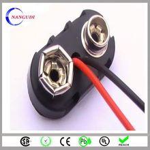 custom made t type wholesale 9v battery snap clip