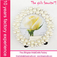 bling beaded rhinestone pearl picture frames