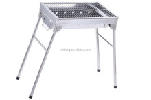 China factory OEM ODM foldable stainless steel charcoal camping BBQ grill