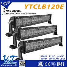 Multiple Power LED heads lighting 21.5inch 120w led offroad Led Light Bar curved 4x4 accessories for heavy commercial vehicles