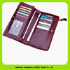 14294 Hot product compact design man long leather wallet with button