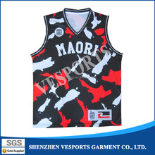 Custom printed dri fit basketball uniform design
