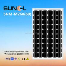 MONO 260W solar panel for grid on power plant