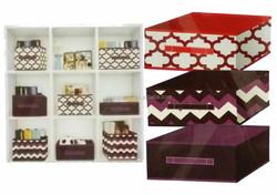 Fashion design Collapsible storage container, Non-woven fabric storage box