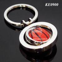 Metal Spinning Basketball Key Ring
