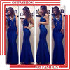 Wholesale 2015 new fashion halter natural color straight evening long dresses lace