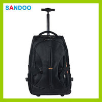 Travel laptop trolley bag, laptop backpack with trolley for 2016