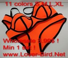 2015 newest neoprene high V neck bikini swimwear swimsuit bathing suit monokini beach wear diving suit