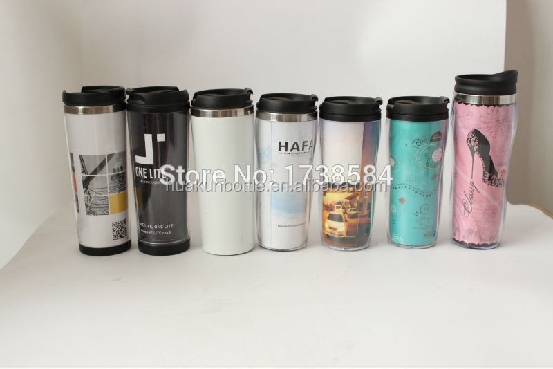 Double Wall Clear Acrylic Plastic Coffee Tumbler With