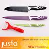4 pcs kitchen knife set with peeler multicolor