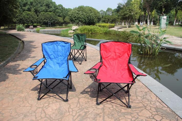 En gros de Haute Qualité 600D Oxford Tissu Léger chaise de camping Chaise Pliante Camping Chaise avec Bras