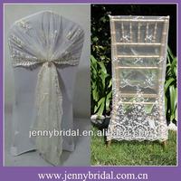 C122E jenny bridal fancy lace chair wrap , lace chair sash, lace chair covers wedding