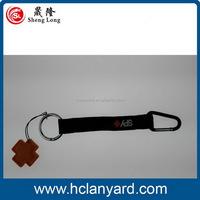 Low price hot selling custom carabiner short lanyard straps