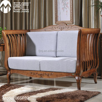 Model:06SF02 Luxury livingroom furniture bamboo leather sectional sofa