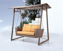 Patio Furniutre Double 2 Seater Outdoor Indoor Rattan Swing Chair (DH-9743)