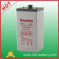KOYAMA Hot sell 500ah 2V deep cycle storage battery