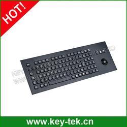 Black Compact Format IP65 waterproof indsutrial Keyboard with full keyboard functionalities