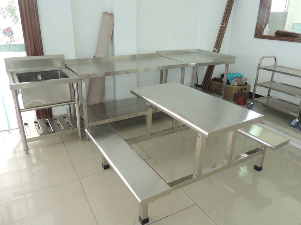 Stainless Steel Restaurant Dining Table And Chair Set Part 51