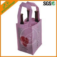 Wholesale 4-pack Non Woven Wine Bottle Bag With Logo