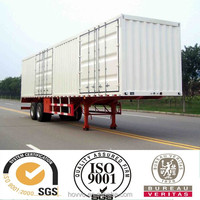Size optional box van truck semi trailer for cargo or electronic appliance transportation