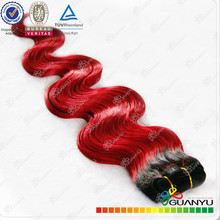 wholesale high quality red color body wave virgin human hair weaving,hair extension