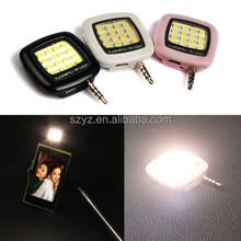 2015 New Arrival RK05 Selfie Enhancing LED Flash For Mobile Phone Monopod Selfie Stick Night Selfie Using Sync LED Flash Light