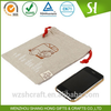 China Cheap Eco-friendly jute drawstring bag pouches for mobile phone