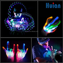 LED products of knitted led Glitter Sequin glove light for party city