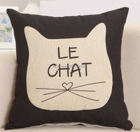 Good quality square plain natural linen fancy pillow latest design cushion cover