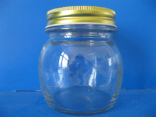 small round air tight lid glass jar for jam