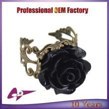2015 Fashion Vintage Rhinestone Flower Rings Wholesale Jewellery Ring