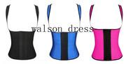 HOT SALE 100% Latex Rubber Corset Plus Size Waist Training Corsets For Women Vest Latex Waist Cincher Wholesale