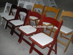 Wood Wimbledon Chair/ Timber Padded Folding Chair