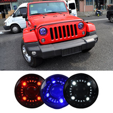 Newest Head Lamp 12V Origina Car Double Light Lens LED Headlight For Jeep Wrangler 2009 ~2015 Head Light