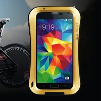 Free Shipping Western Gorilla Glass cell phone protective case aluminum metal s5 i9600 case