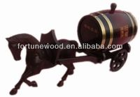 3L carven pine wood horse barrel carrier craft