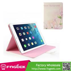 Fast Shipping For iPad Air 5 Elegant Flowers Rhinestone Smart Flip Leather Stand Case