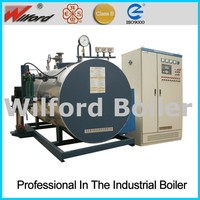 Horizontal induction electric steam boiler