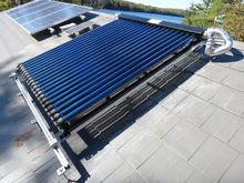 split pressurized vacuum tube solar water heater collector