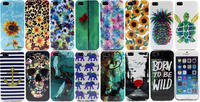 color animal Turtle skull Pineapple flower tpu IMD soft Case Cover for iphone 5 5s 5g 5gs