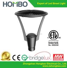 Etl dlc aluminum alloy cob led garden light, outdoor IP65 led garden lamp for post tops lamps, 30w led post top light