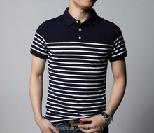 100%cotton newest polo men shirt for outdoor ,wholesale make clothing polo men shirt with stripe
