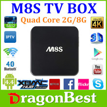 2015 Hot Selling M8S Android TV BOX Dual WiFi Band Kodi Fully Loaded 2GB RAM M8S Amlogic S812 Quad Core Android 4.4 Smart TV Bo