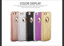 Beautiful Mobile Phone Back Cover Case for Samsung Galaxy J2,Metal Bumper Leather for iphone 6 cover